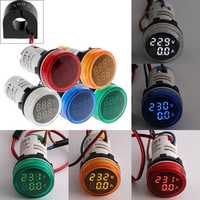 2in1 22mm AC50-500V 0-100A Amp Voltmeter Ammeter Voltage Current Meter With CT Au23