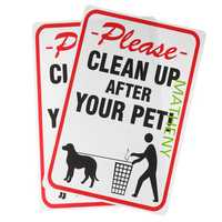 Please Clean Up After Your Pet Plastic Sign Waterproof Tag Indoor and Outdooors Sign Pet Supplies