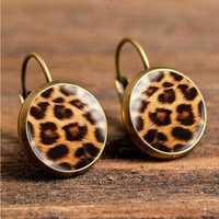 Retro Leopard Print Ear Drop Earrings
