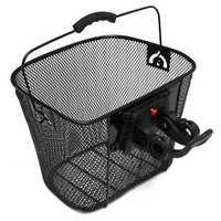 Bike Bicycle Metal Mesh Basket & Quick Release Bracket Shopping Carry Handle