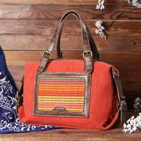 Women Patchwork Handmade National Handbag