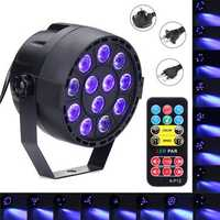 36W 12 LED UV Purple DMX Par Light Disco Bar DJ Light Show Stage Lighting for Halloween AC90-240V