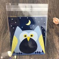 10*10 100Pcs/Lot Creative Cookie Bag Cute Cartoon Candy Baking Plastic Ziplock Packing