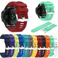 Replacement Silicone Wear-resistant Quick Fit Watch Strap Wristband for Garmin Fenix 5X