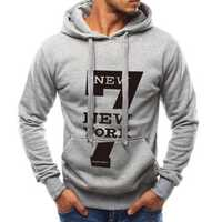 Men's Letter Printing Cotton Drawstring Casual Sweatshirts