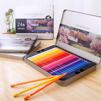 Deli 72 Colors Oily Color Pencil Set Soft Core Crayons Painting Drawing Sketching Colored Pencils Painting Supplies
