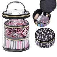3 Sets Of Transparent Waterproof Wash Bag Travel Storage Bag