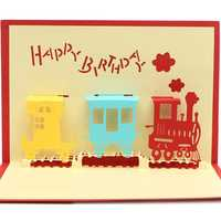 Handmade Happy Birthday 3D Greeting Card Birthday Party Pop Up Card