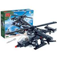 BanBao Military Building Blocks Toys Kids Gifts Army Cars Helicopter Ship 3 in 1 Weapon Stickers