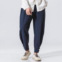 Men's Casual Baggy Cotton Linen Harem Pants