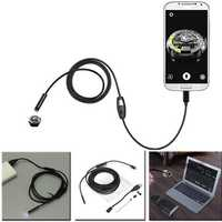 5.5mm 2m 6 LED Lens USB Camera Borescope for Android Phone Laptop