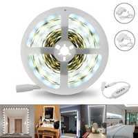 5M 12W SMD2835 White 1400-1500LM Dimmable LED Make-up Mirror Strip Light Kit AC110-240V