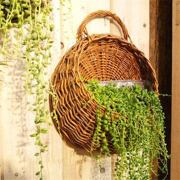 Flower Planter Wall Hanging Basket Ornamental Vases Garden Outdoor Indoor Holder Home Decoration