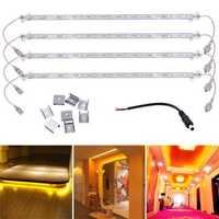 4PCS 50CM Waterproof 36 SMD 5630 Golden LED Rigid Strip Hard Bar Light Tube Lamp for Home DC12V