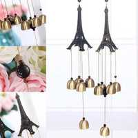 Vintage Eiffel Tower Wind Bells Landscape Metal Hanging Wind Chimes Yard Church Home Decoration