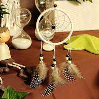 Handmade Dreamcatcher Car Wall Window Hanging Ornaments Guineafowl Feather Flocking Decor