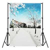 5x7FT Children Winter Scenery Photography Vinyl Background Studio Photo Backdrop