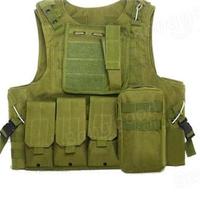Amphibious Forces Camouflage Combat Vest Multi Pockets Fishing Tactical CS Outdoor