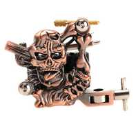 OCOOCOO K400 Skull Casting Tattoo Machine High Stability 7000-9000 R/Minute Purple Bronze 10 Warps Coils