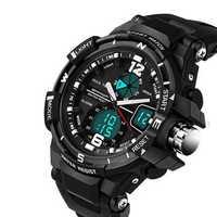 SANDA 289 Fashion Luminous Dual Display Watch Men Stopwatch 30M Waterproof Sport Digital Watch
