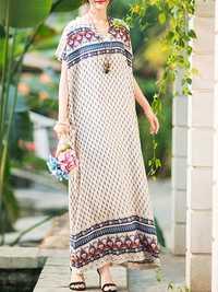 Vintage Floral Maxi Dress