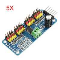 5Pcs PCA9685 16-Channel 12-bit PWM Servo Motor Driver I2C Module For Arduino Robot
