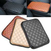 Universal Car Auto Armrest Pad Cover Center Console Box Leather Cushion 3-Colors