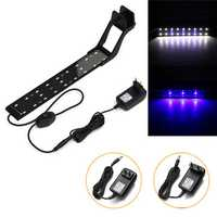 8W 33cm Blue & White LED Adjustable Aquarium Fish Tank Lamp Super Slim Clip On Light