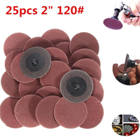 25pcs 2 Inch 120 Grit R-Type Roll Lock Sanding Discs Abrasive Tool