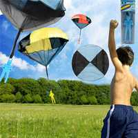 5PCS Wholesale Random Color Skydiver Kids Toy Hand Throwing Parachute Kite Outdoor Play Game Toy