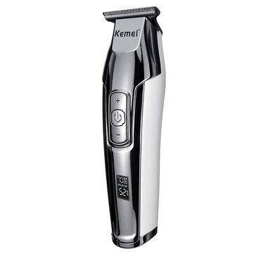 KM 5027 Cordless Rechargeable Hair Clipper LCD Hair Trimmer Hair Cutting Kits