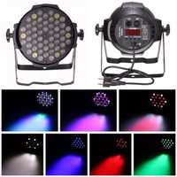 54pcs 3W 6CH LED RBGW 180W Stage Par Lighting Music Club Disco DJ Party Bar