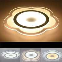 15W Modern Flower Shape Acrylic LED Ceiling Lights Living Room Bedroom Home Lamp AC220V