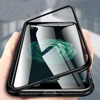 Bakeey 360° Magnetic Adsorption Flip Metal Tempered Glass Protective Case for Xiaomi Mi A2/ Mi 6X