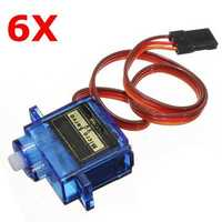 6X SG90 Mini Gear Micro Servo 9g For RC Airplane