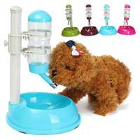 Automatic Pet Water Feeder Bowl Cat Dog Food Water Bottle Feeder Dispenser Drink Dish Travel