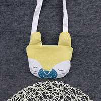 Lovely Yellow Kids Portable Shopping Bag Shoulder Bags Crossbody Bags