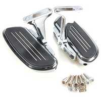 Chrome Passenger Foot Pegs Floor Board With Bracket For Harley Touring 1993-2016