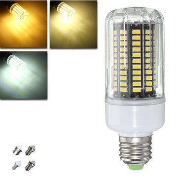 E27 E14 E12E E17 B22 15W 130 SMD 5736 LED Pure White Warm White Cover Corn Bulb AC85 265V