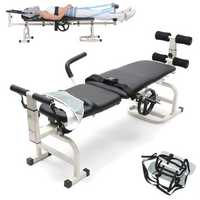 Therapy Massage Bed Table Cervical And Lumbar Neck Waist Traction Folding Bed Stretching Device