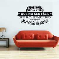 Spanish Inspiring Words Vinyl Wall Stickers Living Room Wallpaper Home Decor