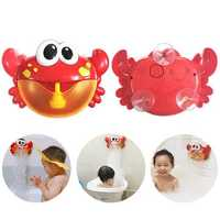Big Crab Bubble Machine Tub Automatic Bubble Maker Blower 35 Music Songs Toy Bubble Blower