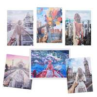 DIY Digital Acrylic Canvas Oil Paintings Frameless Travel Paint By Numbers Kits