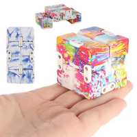 Plastic Multi Shape Infinite Cube Anxiety Stress Relief Fidget Focus Adults Kids Attention Toys