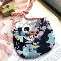 1-3 Years Old Children Lovely Floral Canvas Crossbody Bag Garden Travel Handbag