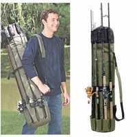 Portable Multifunction Nylon Fishing Rod Bag Fishing Tackle Case Fishing Tools Storage Bag