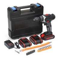 36V 6500mAh Cordless Power Drill Electric Screwdriver Drills Kit W/ 1/2/3Pcs Li-ion Battery
