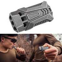IPRee® 120db EDC Emergency Aluminum Whistle Camping Survival Keychain Kit
