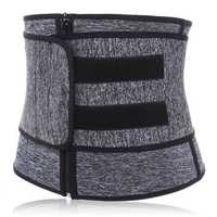 Sport Women Waist Tummy Girdle Zipper Belt Corset