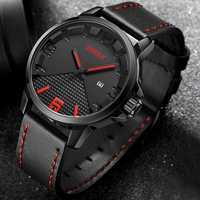 BREAK 3301 Casual Style Waterproof Leather Strap Men Watch